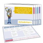 Mitmach-Set zum Klassenrat: Die Rollenkarten für den Vorsitzenden, die Zeitwächterin, den Regelwächter, den Protokollant und das Ratsmitglied