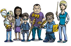 Unsere Klassenrats-Figuren stellen sich vor