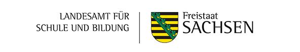 Schriftzug Landesamt für Schule und Bildung, Freistaat Sachsen